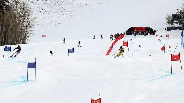 Racers make their way down the course at the base of Aspen Mountain on Saturday during the eighth annual Audi Ajax Cup.