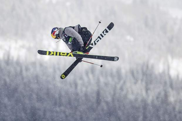 Nick Goepper of United States competes in the slopestyle qualifiers during the Dew Tour event Thursday, Dec. 14, at Breckenridge Ski Resort. Goepper placed first in qualifiers with a high score of 90.33.
