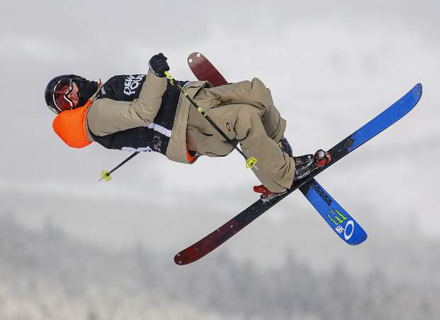 Colby Stevenson of United States competes in the slopestyle qualifiers during the Dew Tour event Thursday, Dec. 14, at Breckenridge Ski Resort. Stevenson placed third in the qualifiers with a high score of 86.33.
