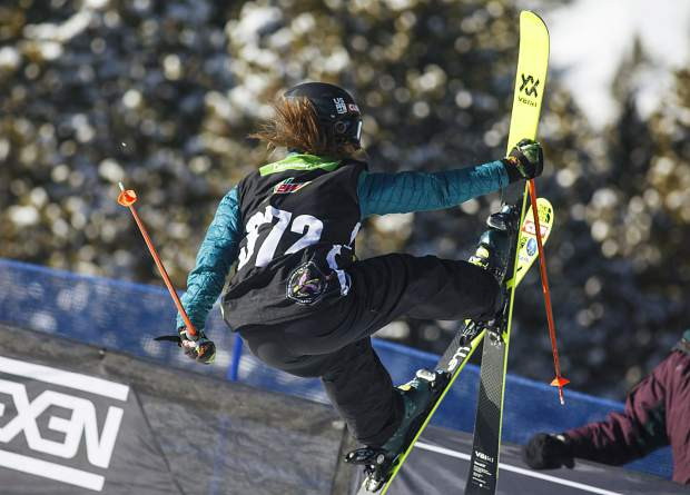 Maddie Bowman of United States competes in the superpipe finals during the Dew Tour event Friday, Dec. 15, at Breckenridge Ski Resort.