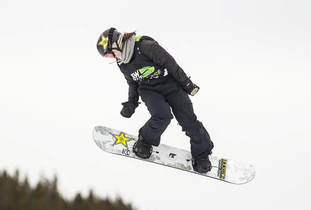 Spencer O'Brien of Canada competes in the slopestyle finals during the Dew Tour event Saturday, Dec. 16, at Breckenridge Ski Resort. O'Brien took home first with a high score of 95.