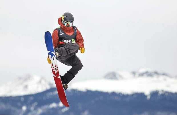Silverthorne resident Chris Corning of United States competes in the slopestyle finals during the Dew Tour event Saturday, Dec. 16, at Breckenridge Ski Resort. After Corning's second place finish with high score of 95, he qualified for the 2018 Winter Olympics in Pyeongchang, South Korea.