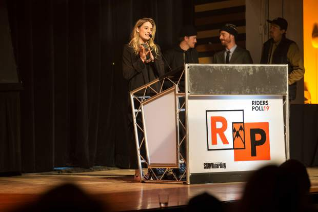 Austrian rider Anna Gasser won the Readers' Choice and Rider of the Year awards at Friday night's 19th annual TransWorld SNOWboarding Riders' Poll Awards.
