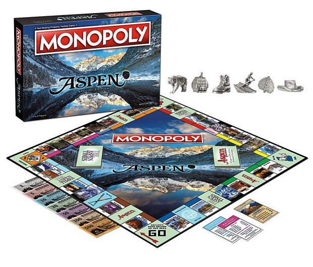 Aspen Monopoly features properties such as the Little Nell and Maroon Bells rather than familiar locations from the classic board game. Aspen Monopoly is for sale for $40 at several local outlets.