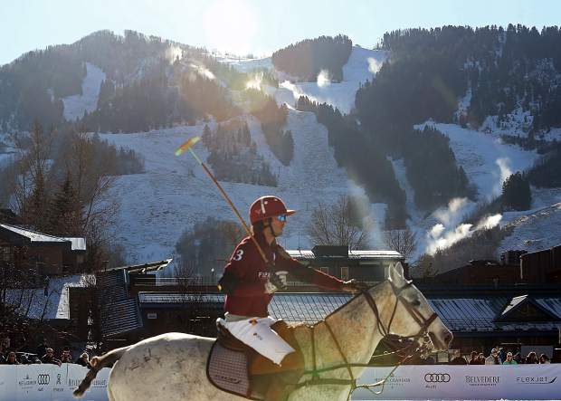 Aspen Mountain provided the backdrop for the World Snow Polo Championship on Sunday in Aspen.