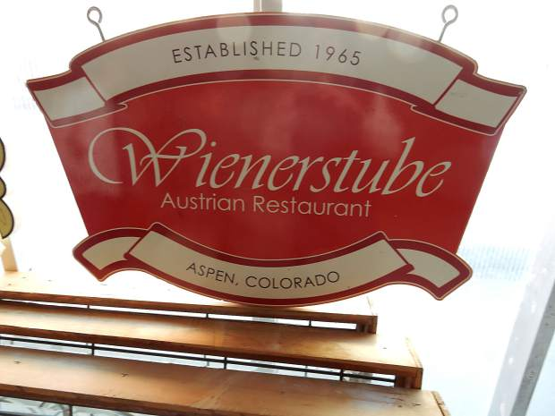 One of the original signs from the Wienerstube will be brought back when the restaurant is resurrected in Willits Town Center.