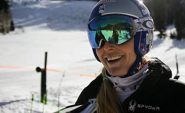 Vail's Lindsey Vonn talks to The Aspen Times on Sunday at the base of Aspen Highlands.