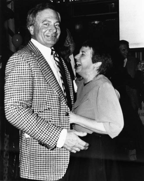 Carl and Katie Bergman dancing in the Paragon at the February 1983 Sweetheart Ball. Carl, who owned Carl's Pharmacy for more than 50 years, died Sunday at his home in Aspen. He was 85.