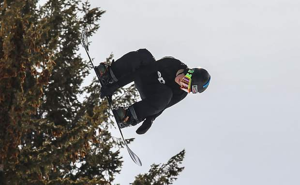 Red Gerard grabs off the hip hit during X Games Aspen slopestyle qualifiers on Thursday, Jan. 25 at Buttermilk Mountain.