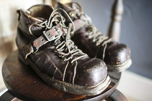 Ski boots of the early 20th century.