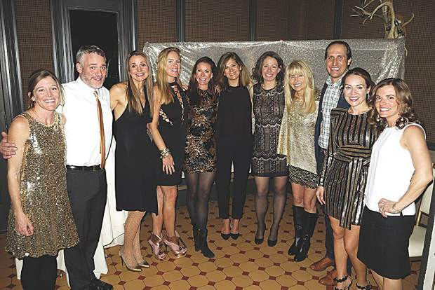The stars behind the Solid Gold fundraiser - Christine Shine, Ron Stear, Liv Glasgow, Lauren Russell, Vanessa Adam, Emily Farrell, Layne Shea, Becky Helmus, Adam Fortier, Meghan Holmes and Lauren Waldron.