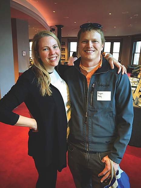 Kelly May with the Aspen Historical Society and her husband, Bryan May.