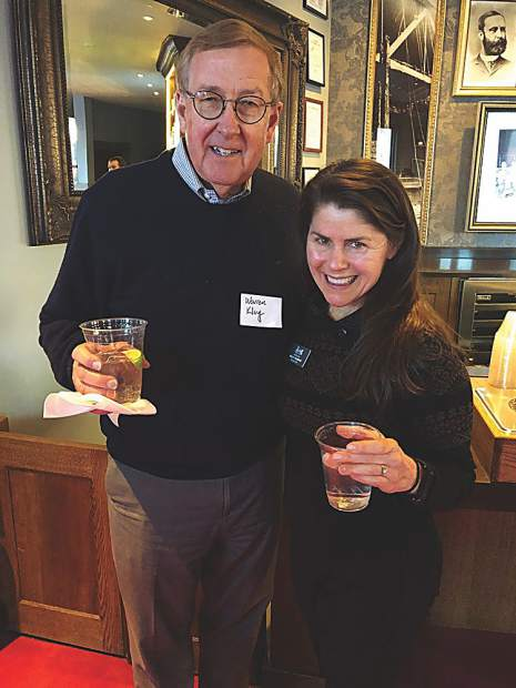 Warren Klug with Kelly Murphy, President & CEO, District Manager, of the Aspen Historical Society.