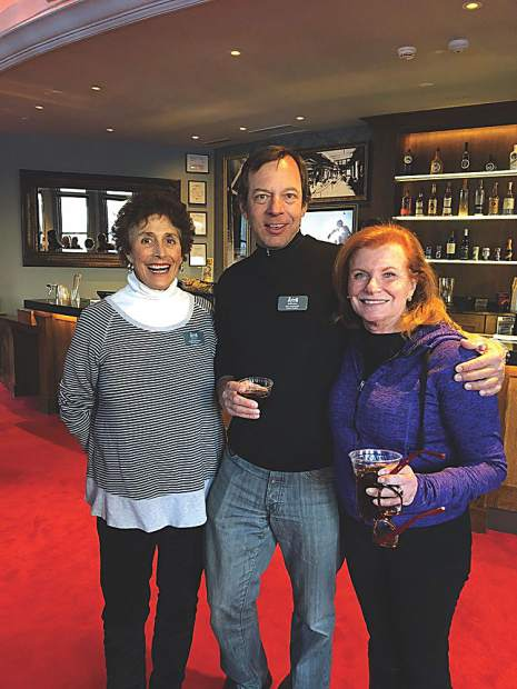 Jackie Kasabach, VP of the Board at the Aspen Historical Society, with Rich Burkley and Susan Bernard.
