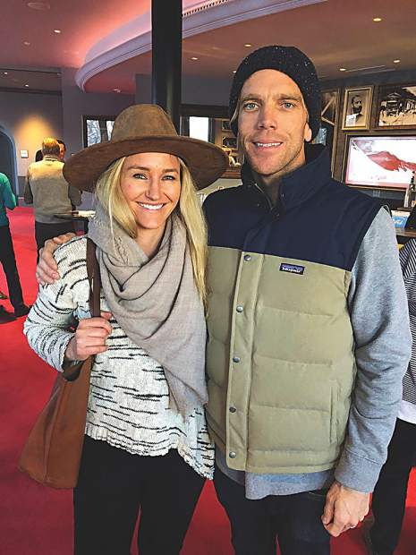 Olympic medalist Gretchen Bleiler with her husband, Chris Hotell.