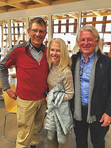 Howie Mallory with Linda and Kelly Hayes at the Aspen Art Museum.