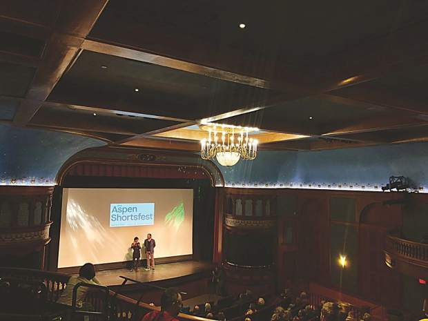 An engaged house at the Wheeler for opening night of the 27th annual Aspen Film's Shortsfest.
