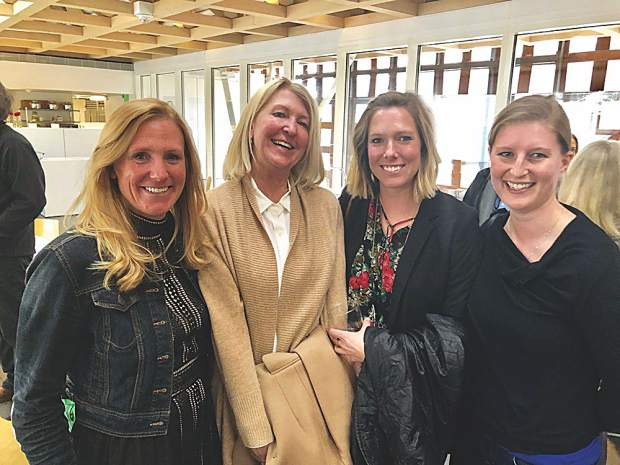 Nicole Kinsler with CCY Architects, Darla Worden and Maggie Swift with Mountain Living Magazine and Katie Bauer with CCY Architects.
