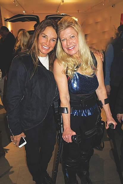 Kate McBride with Amanda Boxtel at a Bridging Bionics event in March.