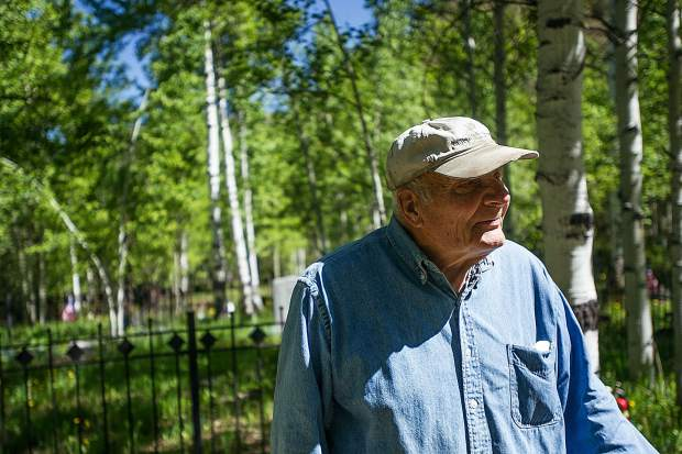 Aspen Grove Cemetery sexton Jim Markalunas talks Thursday about the more than 20 veterans, ranging from the Civil War to Vietnam, who have been laid to rest there.