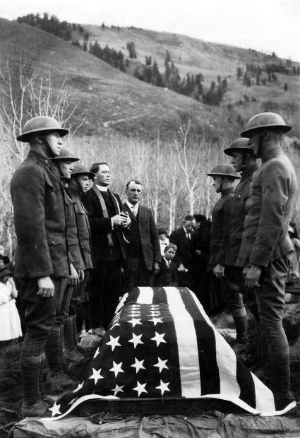 Corporal Peter Galligan of Aspen was killed in 1918 a week before the end of World War I. His funeral service wasn't until 1921 in Aspen and was conducted by Father McSweeney at the Aspen Grove Cemetery. Galligan was born Nov. 20, 1893, and was killed in action Nov. 4, 1918.