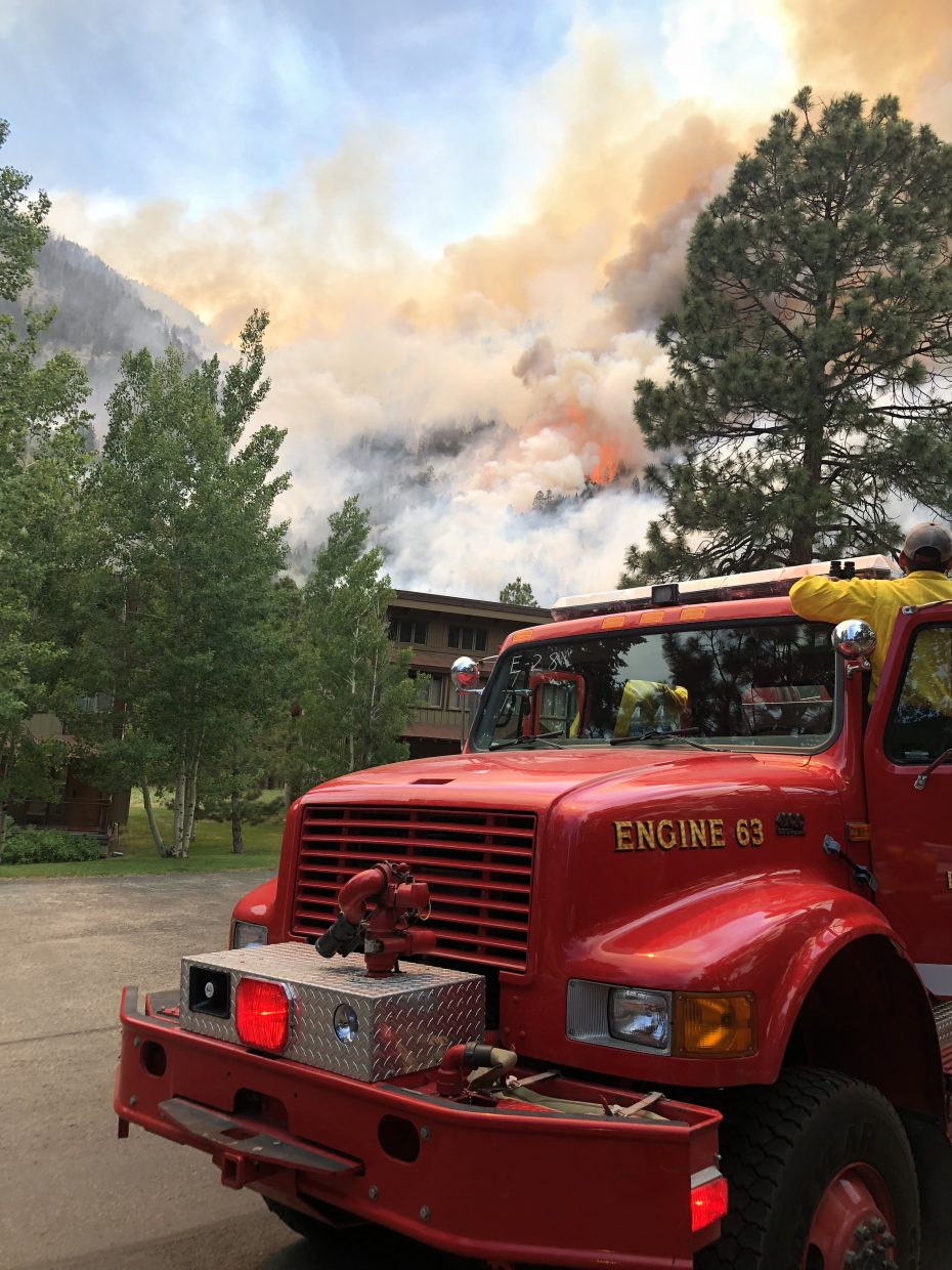 The 416 Fire Near Durango Continues To Grow And More Evacuations Are Ordered Aspen Chief Rick Balentine Is On Scene As Engine Boss With
