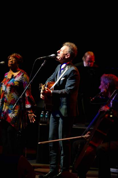 Lyle Lovett and His Large Band performing at the Benedict Music Tent on Saturday night for the JAS June Experience.