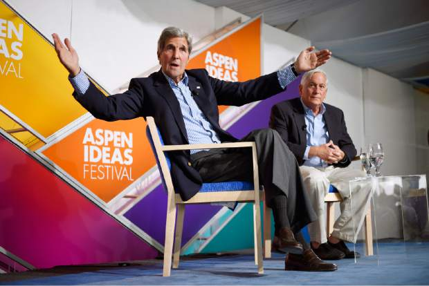 Former U.S. Secretary of State John Kerry, seen here speaking at the 2016 Ideas Festival, will return this year for the Afternoon Conversation.
