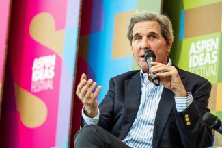 Aspen Ideas: John Kerry says 'stop bloviating' over Trump