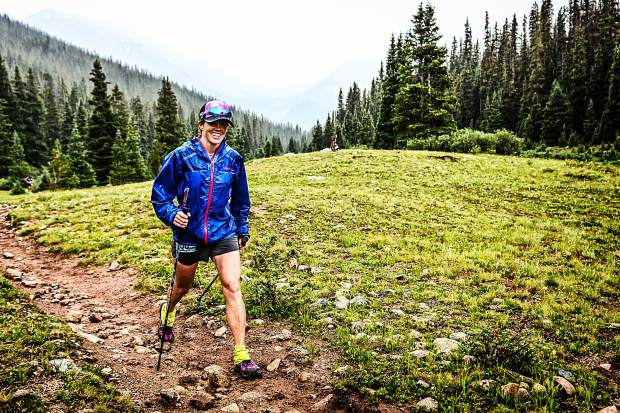 Longtime Summit County local Hannah Taylor died due to an accident while mountain running in the Gore Range on Saturday. The Summit Nordic Ski Coach and Summit Huts Association managing director is pictured here competing in a race where she'd eventually take first-place overall for women at the first-annual High Lonesome 100 Miler ultra-endurance race in Salida on July 28, 2017. Taylor finished in 29 hours and 59 minutes — nearly two hours ahead of the next-fastest woman on the course.