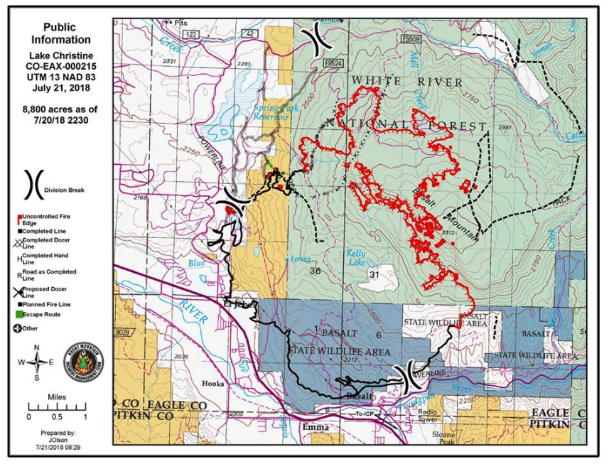 Lake Christine Fire crews work most active section; update has