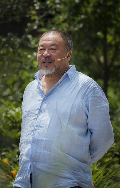 "Activist Ai Weiwei was in Snowmass Village and Aspen on Wednesday. In addition to accepting an award from Anderson Ranch, he screened his 2017 documentary film, ""Human Flow,"" about the global refugee crisis, at the Isis Theater on Wednesday evening."