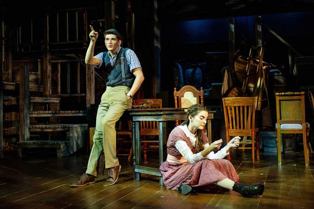 Blake Bojewski and Samanth Bruce as George and Emily in Theatre Aspen's