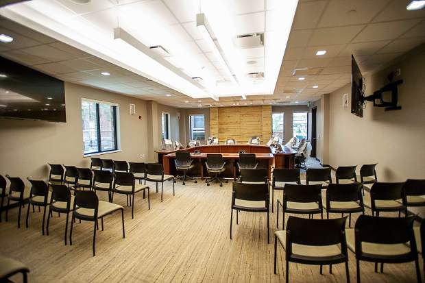 A meeting room at the new Pitkin County Administration building on Friday.