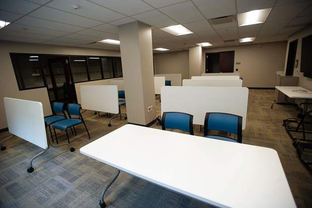 The Mineshaft room that will be used for voting purposes in the new Pitkin County Administration building on Friday.