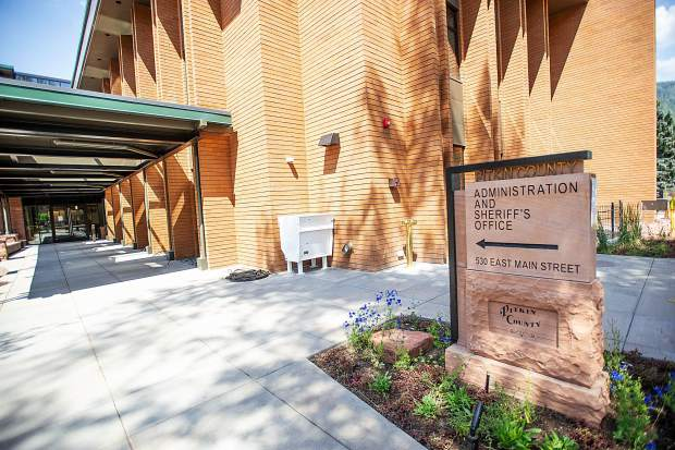 The new Pitkin County Administration and Sheriff's Office building on Friday. Public input was taken heavily into account for the building's design.