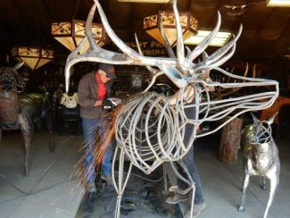 Welcome to Elk Jebel — blacksmith, sculptor collaborate on signature art for area