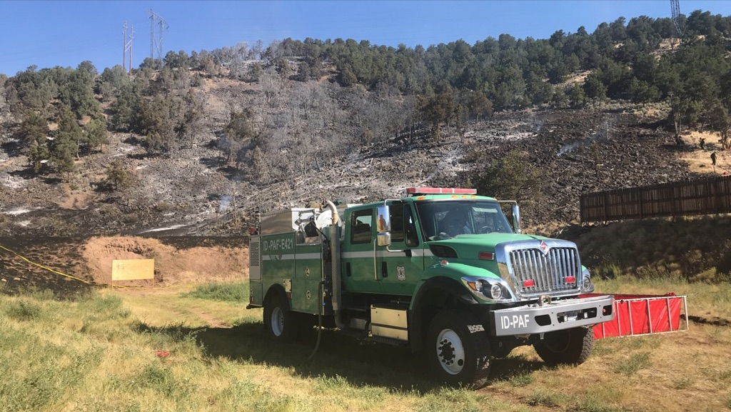 The Lake Christine Fire near Basalt started Tuesday night at the shooting ranging at the Lake Christine Wildlife Area. Fire crews were on scene there Wednesday morning.