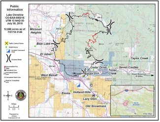 Lake Christine Fire closer to full containment; community meeting Tuesday