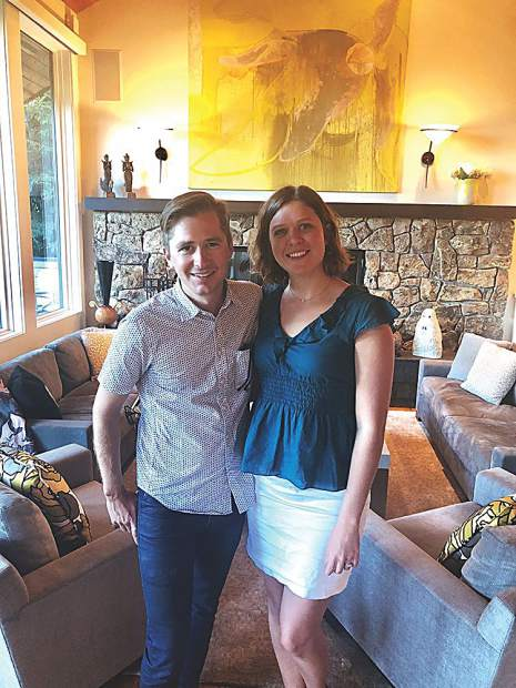 Paul Woznicki and Melissa Dunfee, co-chairs for the Aspen Art Museum Contemporaries.