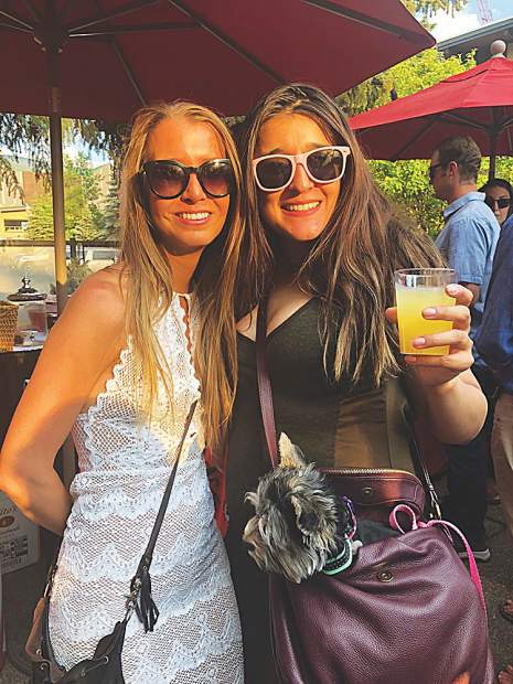 Melissa Wisenbaker who manages @aspenco's Instagram account (and is an influencer herself as @neversacrificestyle) with Amy Roldan, marketing sales assistant for the Aspen Chamber, at a summer soiree.