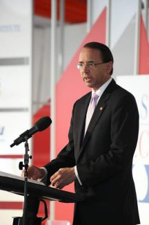 Deputy AG Rosenstein announces cyber threat measures while in Aspen