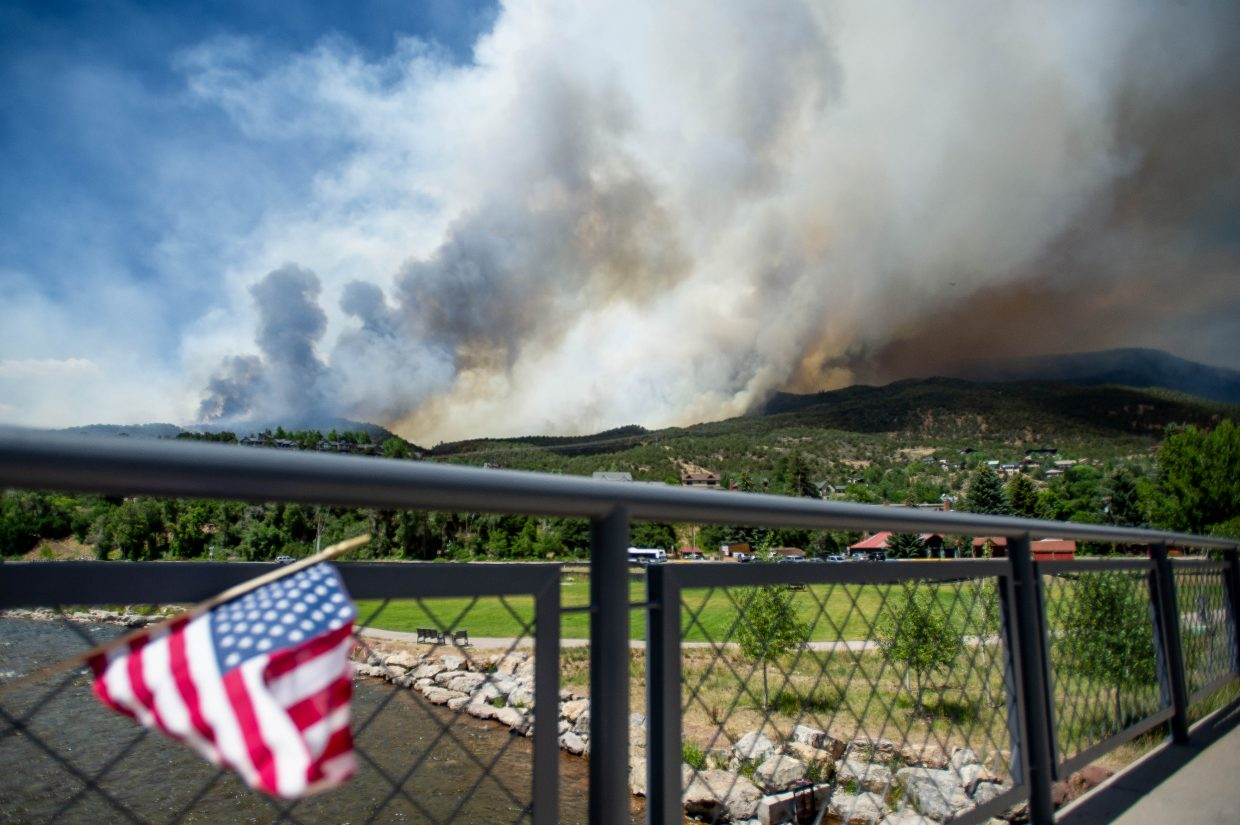 The Lake Christine Fire started Tuesday night and grew to nearly 2,300 acres by Wednesday afternoon.