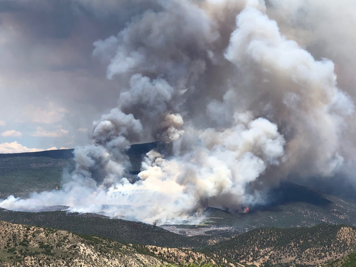 A look at the Lake Christine Fire on Wednesday afternoon about 2:30 p.m. from the Deadwood Ranch.