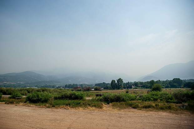 Smoke covers Basalt on Thursday morning from the Lake Christine Fire.