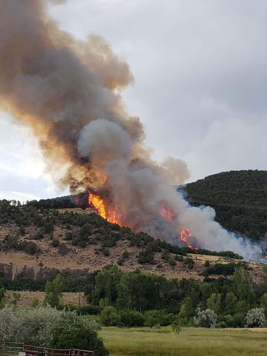 A wildfire started Tuesday afternoon near Basalt, north of Highway 82.
