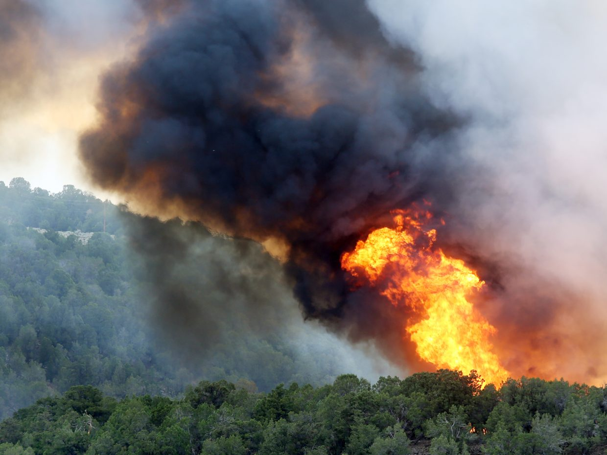 Basalt wildfire from Tuesday, July 3, 2018. (Photo by Austin Colbert/The Aspen Times).