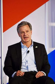 FBI director Christopher Wray maintains Russia a threat during Aspen event
