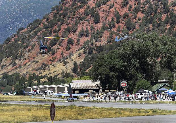 Activity at the Glenwood Springs Airport picked up after the weather broke late morning during the Aviation Expo Saturday.