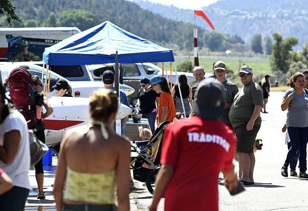 Information booths, games and activities filled the Glenwood Springs Airport during Saturday's 2nd annual Aviation Expo.